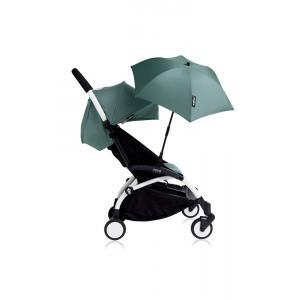 Babyzen - Bu128 - Poussette YOYO+ 6+ (cadre blanc) Aqua et son ombrelle (406632)