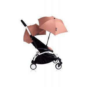 Babyzen - Bu126 - Poussette YOYO+ 6+ (cadre blanc) Ginger et son ombrelle (406636)