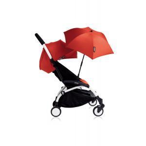 Babyzen - Bu123 - Poussette YOYO+ 6+ (cadre blanc) Rouge et son ombrelle (406640)