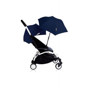 Babyzen - Bu122 - Poussette YOYO+ 6+ (cadre blanc) Beu Air France et son ombrelle (406644)