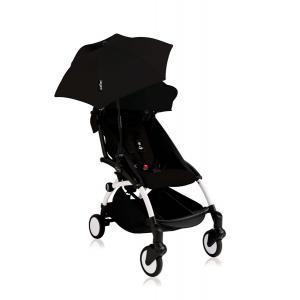 Babyzen - Bu121 - Poussette YOYO+ 6+ (cadre blanc) Noir et son ombrelle (406646)