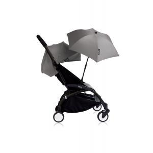 Babyzen - Bu142 - Poussette YOYO+ 6+ (cadre noir) Gris et son ombrelle (406672)