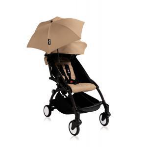 Babyzen - Bu145 - Poussette YOYO+ 6+ (cadre noir) Taupe et son ombrelle (406678)