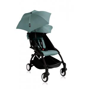 Babyzen - Bu146 - Poussette YOYO+ 6+ (cadre noir) Aqua et son ombrelle (406680)