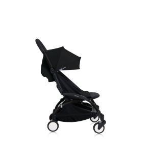 Babyzen - Bu148 - Poussette YOYO+ 6+ (cadre noir) Noir et repose-pieds (406684)
