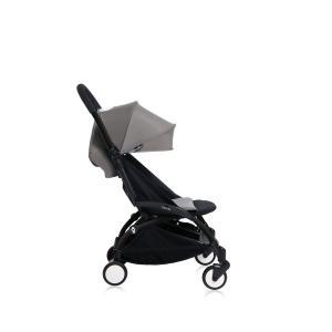Babyzen - Bu151 - Poussette YOYO+ 6+ (cadre noir) Gris et repose-pieds (406690)