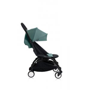 Babyzen - Bu155 - Poussette YOYO+ 6+ (cadre noir) Aqua et repose-pieds (406698)