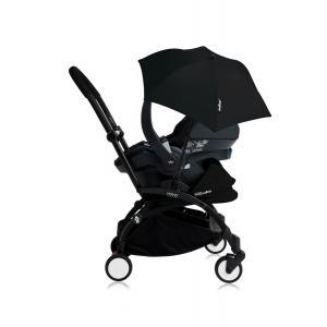Babyzen - Bu157 - Poussette YOYO+ tout-en-un (cadre noir) pack naissance Noir siège-auto Izigo Modular noir et ombrelle (406702)