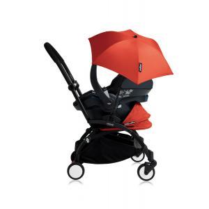 Babyzen - Bu159 - Poussette YOYO+ tout-en-un (cadre noir) pack naissance Rouge siège-auto Izigo Modular noir et ombrelle (406706)