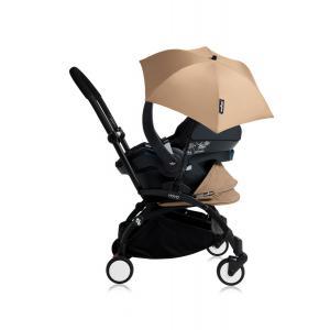 Babyzen - Bu163 - Poussette YOYO+ tout-en-un (cadre noir) pack naissance Taupe siège-auto Izigo Modular noir et ombrelle (406714)