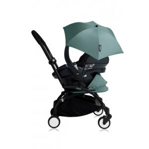 Babyzen - Bu164 - Poussette YOYO+ tout-en-un (cadre noir) pack naissance Aqua siège-auto Izigo Modular noir et ombrelle (406716)
