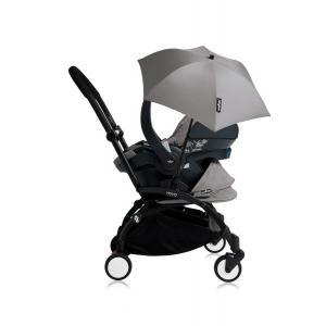 Babyzen - Bu169 - Poussette YOYO+ tout-en-un (cadre noir) pack naissance Gris siège-auto Izigo Modular gris et ombrelle (406726)