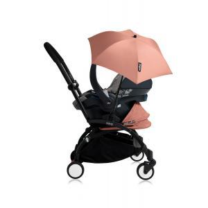 Babyzen - Bu171 - Poussette YOYO+ tout-en-un (cadre noir) pack naissance Ginger siège-auto Izigo Modular gris et ombrelle (406730)