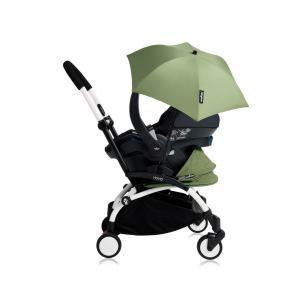 Babyzen - Bu179 - Poussette YOYO+ tout-en-un (cadre blanc) pack naissance Peppermint siège-auto Izigo Modular noir et ombrelle (406746)