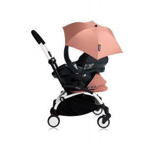 Babyzen - Bu180 - Poussette YOYO+ tout-en-un (cadre blanc) pack naissance Ginger siège-auto Izigo Modular noir et ombrelle (406748)