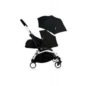 Babyzen - Bu193 - Poussette YOYO+ 0+ (cadre blanc) Noir et son ombrelle (406774)