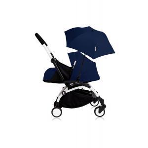 Babyzen - Bu194 - Poussette YOYO+ 0+ (cadre blanc) Beu Air France et son ombrelle (406776)