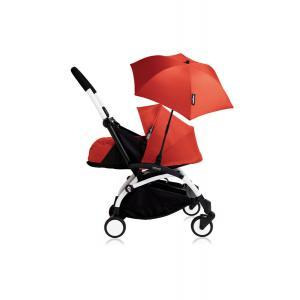 Babyzen - Bu195 - Poussette YOYO+ 0+ (cadre blanc) Rouge et son ombrelle (406778)