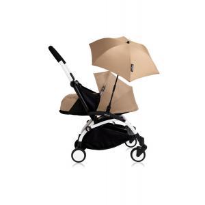 Babyzen - Bu199 - Poussette YOYO+ 0+ (cadre blanc) Taupe et son ombrelle (406786)