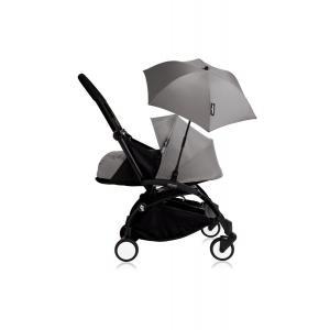 Babyzen - Bu205 - Poussette YOYO+ 0+ (cadre noir) Gris et son ombrelle (406798)