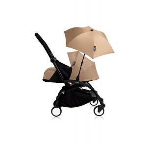 Babyzen - Bu208 - Poussette YOYO+ 0+ (cadre noir) Taupe et son ombrelle (406804)