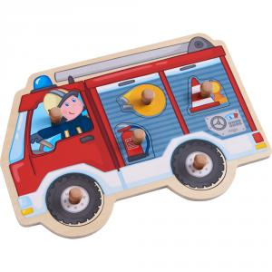 Haba - 304594 - Puzzle Camion de pompiers (407274)