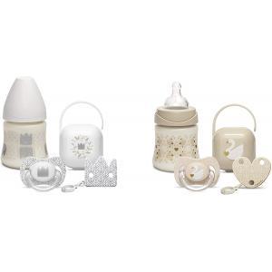Suavinex - 305686 - Set biberon 150ml + sucette+clip+porte sucette white design 2019 (408300)