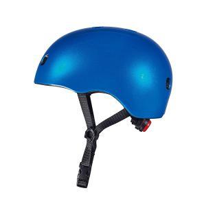 Micro - AC2083 - Casque Bleu foncé brillant - Nouvelle gamme - lumière LED intégrée - Taille M     !! NOUVEAU !! (408570)