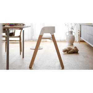 Stokke - BU159 - Chaise STEPS Bois de hêtre Aqua - Tablette (408622)