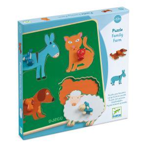 Djeco - DJ01061 - Puzzles gros boutons -  Family Farm (408702)