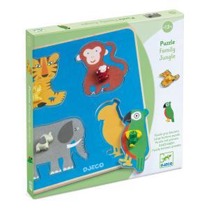 Djeco - DJ01062 - Puzzles gros boutons -  Family Jungle (408704)