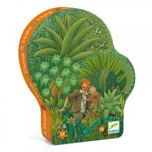 Djeco - DJ07244 - Puzzle silhouettes Dans la jungle - 54 pièces (408840)