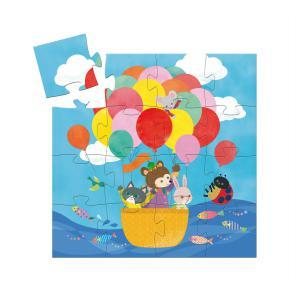 Djeco - DJ07270 - Puzzles silhouettes -  La montgolfière - 16 pièces (408842)