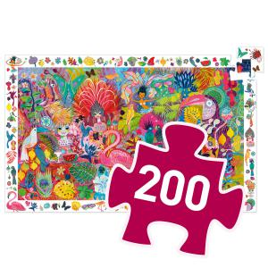 Djeco - DJ07452 - Puzzle observation Carnaval de Rio - 200 pièces (408846)