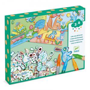 Djeco - DJ08997 - Les petits - Créer avec des formes - Un monde à créer, animaux (408946)