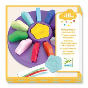 Djeco - DJ09005 - Les couleurs - Pour les petits - 12 crayons fleurs (408952)