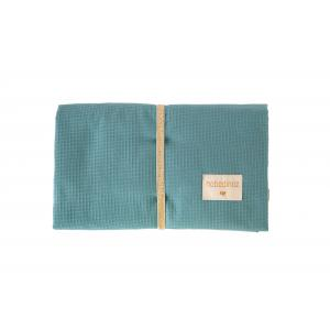 Nobodinoz - N110653 - Matelas à langer de voyage Mozart en coton bio 68x50 cm Magic green (409230)