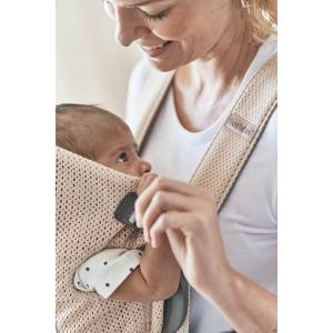 Babybjorn - 021001 - Porte-bébé Mini, Rose nacré, Mesh 3D (410240)