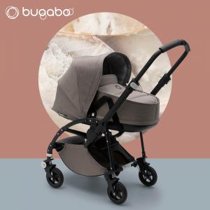 Bugaboo - 500224AM01 - Poussette Bee5 - nacelle MINERAL TAUPE (410302)