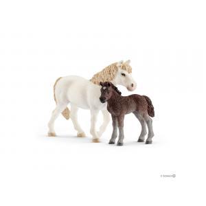 Schleich - bu015 - Figurines de chevaux poney  Ponette, poulain) avec Slalom pour poney (410436)