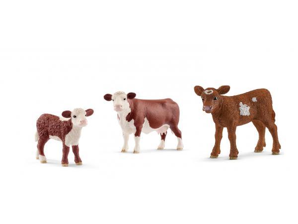 Figurines animaux de la ferme vach et veau