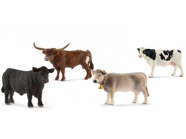 Figurinesanimaux de la ferme vaches, taureaux