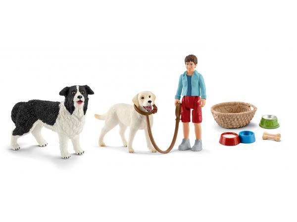 Figurines animaux familiers chiens et accessoires
