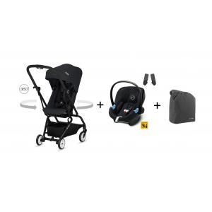 Cybex - BU228 - Poussette Eezy S twist noir + Aton M i-size + travel bag (412444)