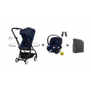 Cybex - BU227 - Poussette Eezy S twist bleu + Aton M i-size + travel bag (412446)