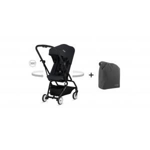Cybex - BU222 - Poussette Eezy S twist noir + travel bag (412456)