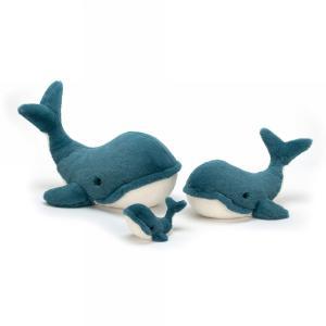 Jellycat - WW6S - Peluche baleine Wally - S - L = 12 cm x l = 20 cm x H =15 cm (413000)