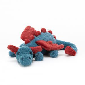 Jellycat - DEX6DDL - Peluche dragon Dexter - L = 7 cm x l = 26 cm x H =7 cm (413004)