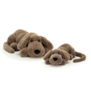 Jellycat - HEN4H - Peluche chien Henry - Litt - L = 8 cm x l = 29 cm x H =8 cm (413008)