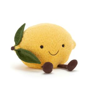 Jellycat - A2L - Peluche citron Amuseable - L = 13 cm x l = 27 cm x H =22 cm (413138)